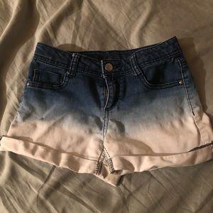 Total girl blue & white shorts.
